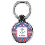 Buoy & Argyle Print Cell Phone Ring Stand & Holder (Personalized)
