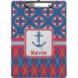 Buoy & Argyle Print Clipboard (Personalized)