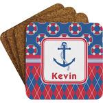 Buoy & Argyle Print Coaster Set (Personalized)