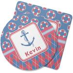 Buoy & Argyle Print Rubber Backed Coaster (Personalized)