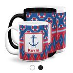 Buoy & Argyle Print Coffee Mugs (Personalized)