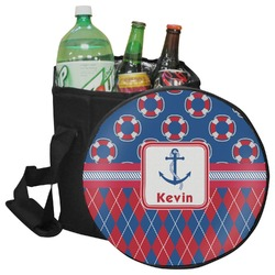Buoy & Argyle Print Collapsible Cooler & Seat (Personalized)