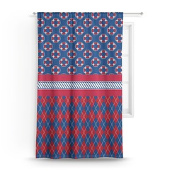 Buoy & Argyle Print Curtain (Personalized)