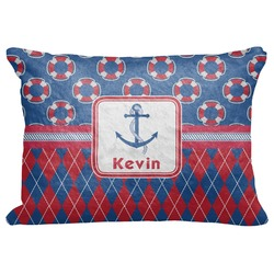 "Buoy & Argyle Print Decorative Baby Pillowcase - 16""x12"" (Personalized)"