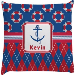 Buoy & Argyle Print Decorative Pillow Case (Personalized)