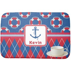 Buoy & Argyle Print Dish Drying Mat (Personalized)
