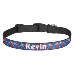 Buoy & Argyle Print Dog Collar - Multiple Sizes (Personalized)