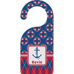 Buoy & Argyle Print Door Hanger (Personalized)