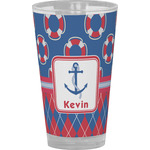 Buoy & Argyle Print Drinking / Pint Glass (Personalized)