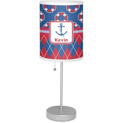 "Buoy & Argyle Print 7"" Drum Lamp with Shade (Personalized)"