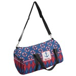 Buoy & Argyle Print Duffel Bag (Personalized)