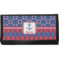Buoy & Argyle Print Canvas Checkbook Cover (Personalized)
