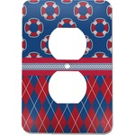 Buoy & Argyle Print Electric Outlet Plate (Personalized)