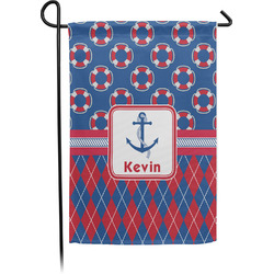 Buoy & Argyle Print Garden Flag (Personalized)