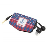 Buoy & Argyle Print Genuine Leather Cord Wrap (Personalized)