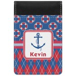 Buoy & Argyle Print Genuine Leather Small Memo Pad (Personalized)