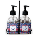 Buoy & Argyle Print Soap/Lotion Dispensers (Glass) (Personalized)