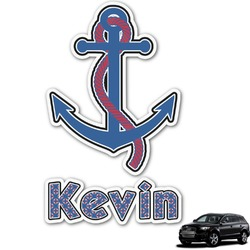 Buoy & Argyle Print Graphic Car Decal (Personalized)