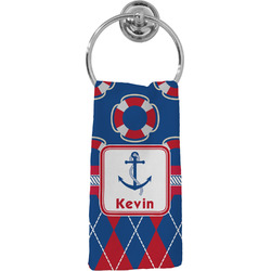Buoy & Argyle Print Hand Towel - Full Print (Personalized)