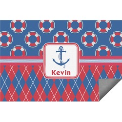 Buoy & Argyle Print Indoor / Outdoor Rug (Personalized)