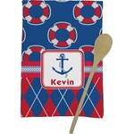 Buoy & Argyle Print Kitchen Towel - Full Print (Personalized)