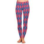 Buoy & Argyle Print Ladies Leggings (Personalized)