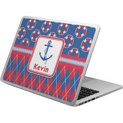 Buoy & Argyle Print Laptop Skin - Custom Sized (Personalized)