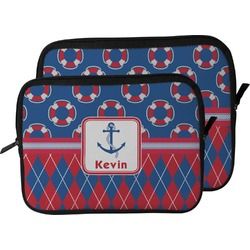 Buoy & Argyle Print Laptop Sleeve / Case (Personalized)