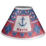 Buoy & Argyle Print Coolie Lamp Shade (Personalized)