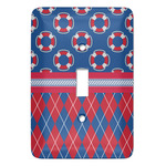 Buoy & Argyle Print Light Switch Covers (Personalized)