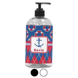 Buoy & Argyle Print Plastic Soap / Lotion Dispenser (Personalized)