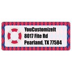 Buoy & Argyle Print Return Address Labels (Personalized)