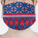 Buoy & Argyle Print Face Mask Cover (Personalized)
