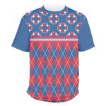 Buoy & Argyle Print Men's Crew T-Shirt (Personalized)