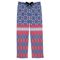 Buoy & Argyle Print Mens Pajama Pants (Personalized)