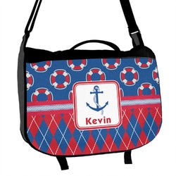 Buoy & Argyle Print Messenger Bag (Personalized)