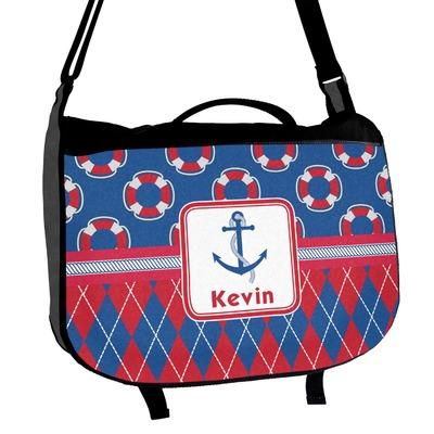 Buoy & Argyle Print Messenger Bag (Personalized)