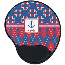Buoy & Argyle Print Mouse Pad with Wrist Support
