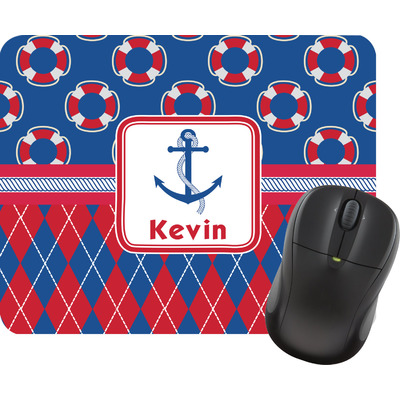 Buoy & Argyle Print Mouse Pad (Personalized)