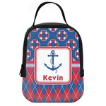 Buoy & Argyle Print Neoprene Lunch Tote (Personalized)