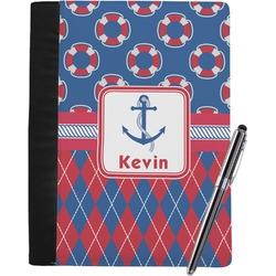 Buoy & Argyle Print Notebook Padfolio (Personalized)