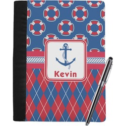 Buoy & Argyle Print Notebook Padfolio (Personalized)