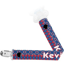 Buoy & Argyle Print Pacifier Clips (Personalized)