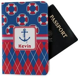 Buoy & Argyle Print Passport Holder - Fabric (Personalized)