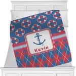 Buoy & Argyle Print Minky Blanket (Personalized)