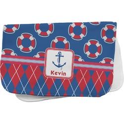 Buoy & Argyle Print Burp Cloth (Personalized)
