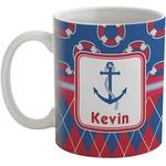 Buoy & Argyle Print Coffee Mug (Personalized)