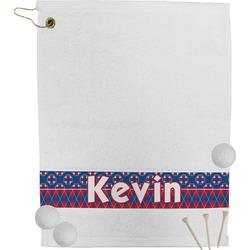 Buoy & Argyle Print Golf Towel (Personalized)