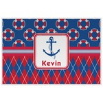 Buoy & Argyle Print Laminated Placemat w/ Name or Text