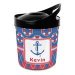 Buoy & Argyle Print Plastic Ice Bucket (Personalized)